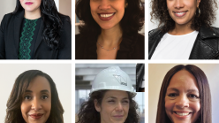 Composite image of six portraits of Pilar Tompkins Rivas, Nenette Luarca-Shoaf, Amanda Hunt, Erica Neal, Larissa Gentile, and Anais Disla.