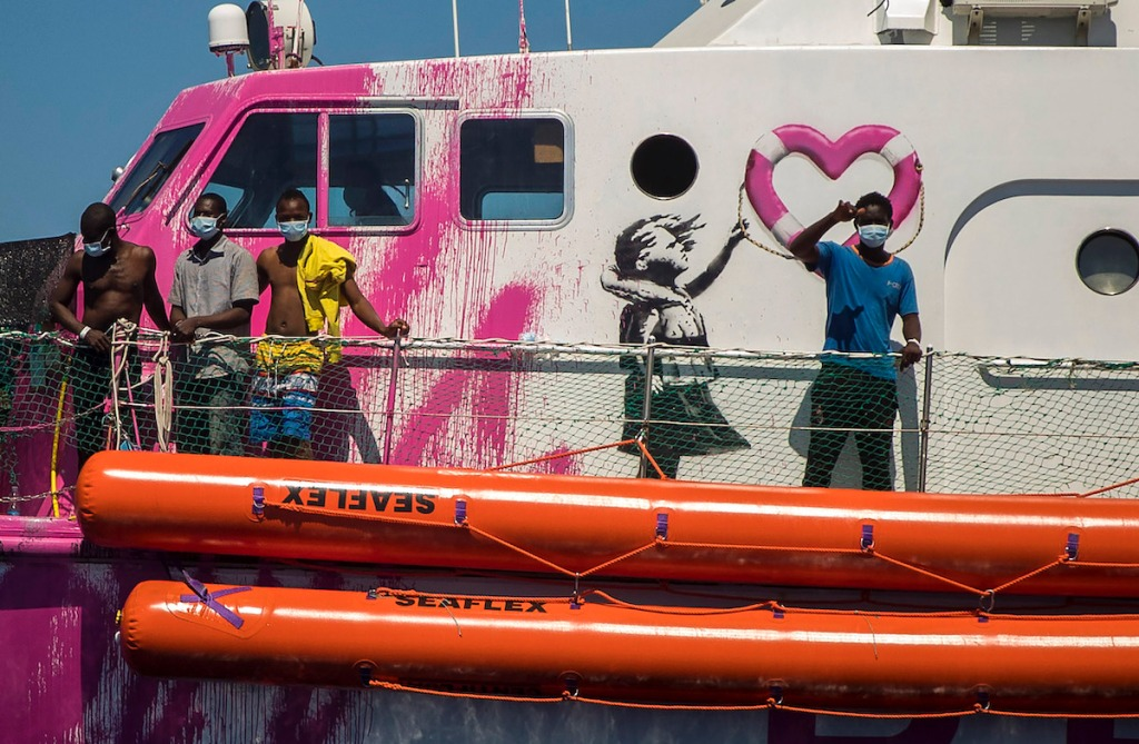 Banksy Schiff