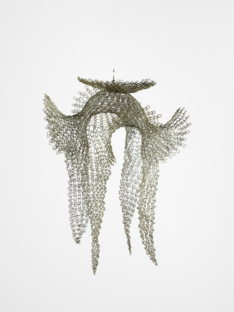 Ruth Asawa, 'Untitled (S.459, Hanging Open Form with a Disc, Four Upward Ears, and Four Downward Tails),' ca. 1950-59