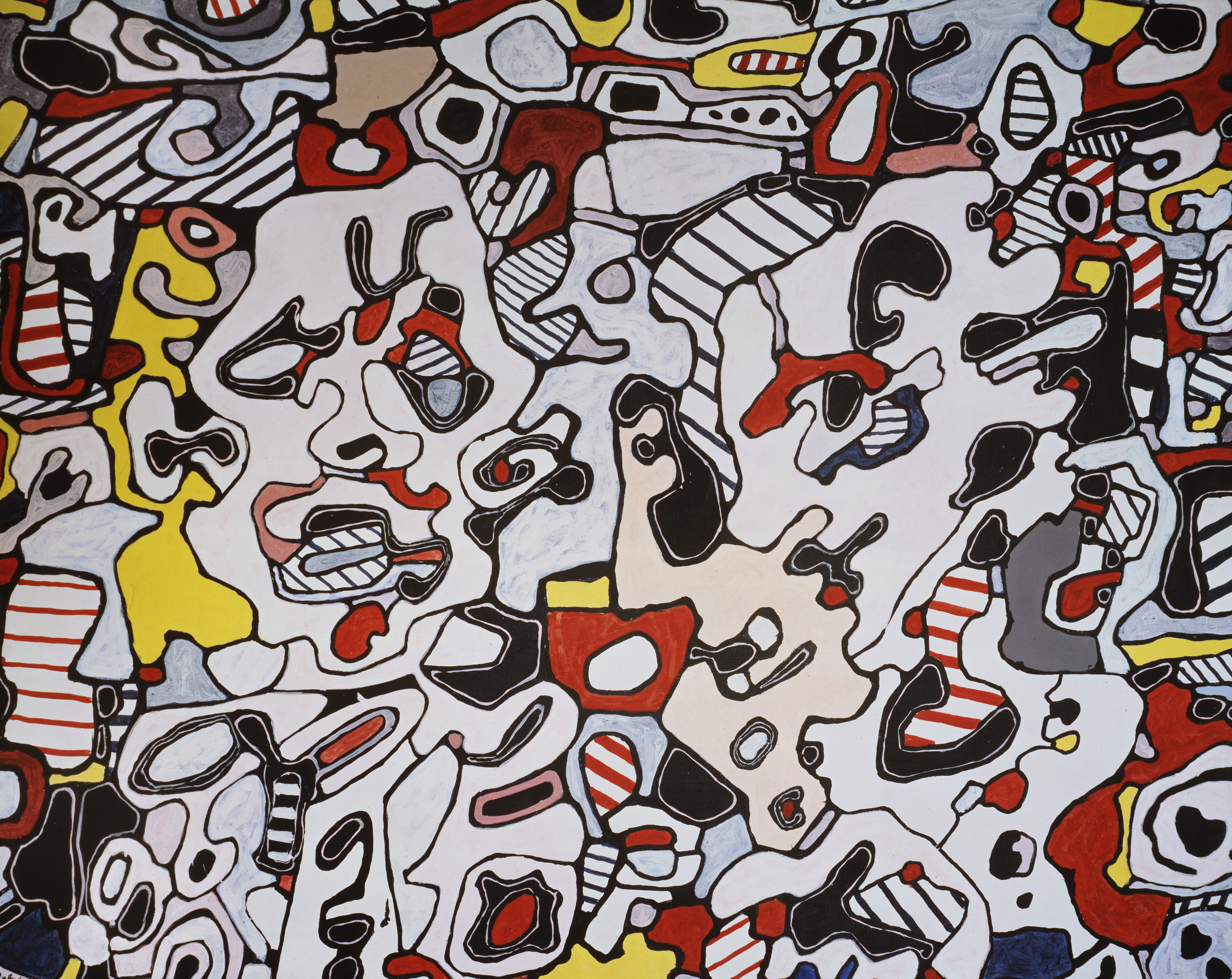 Jean Dubuffet, 'Offres galantes,' 1967, vinyl on canvas