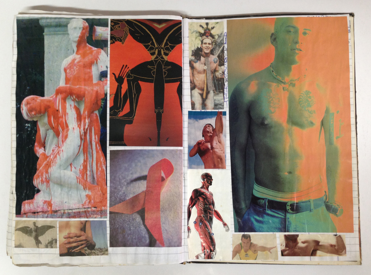 Hudinilson Jr., Untitled, ca. 1980s–2009, notebook collage.