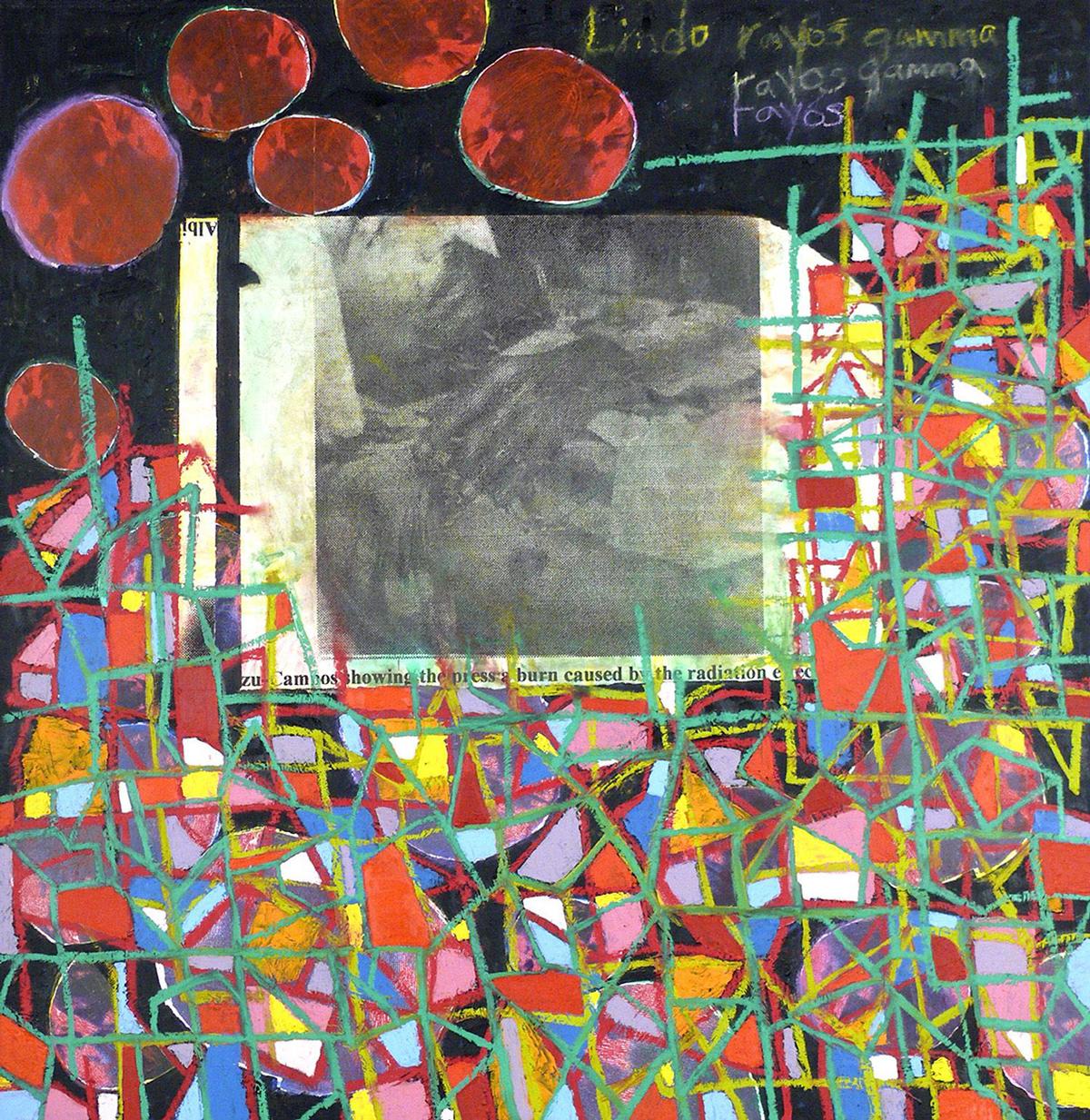 Juan Sánchez, Lindo colores (Rayos gamma), 2002.