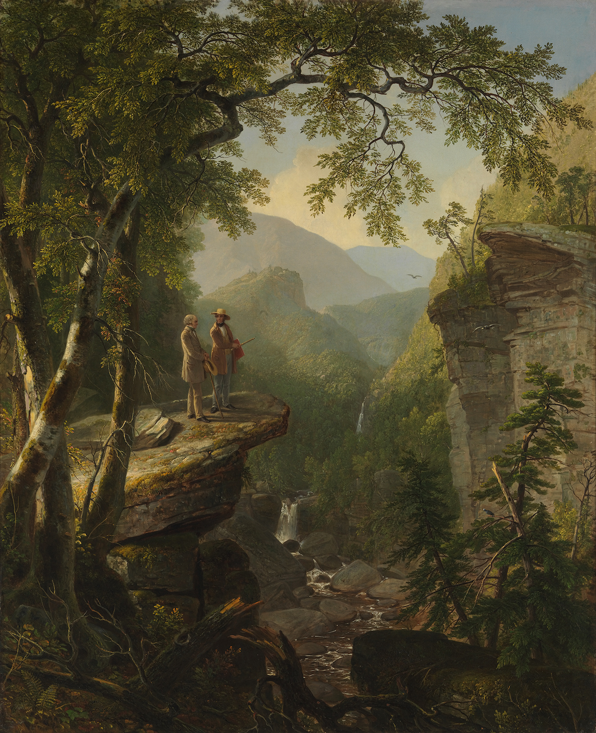 Asher B. Durand's 'Kindred Spirits' (1848) was bought by Crystal Bridges of American Art founder Alice Walton after being deaccessioned by the New York Public Library in 2005.