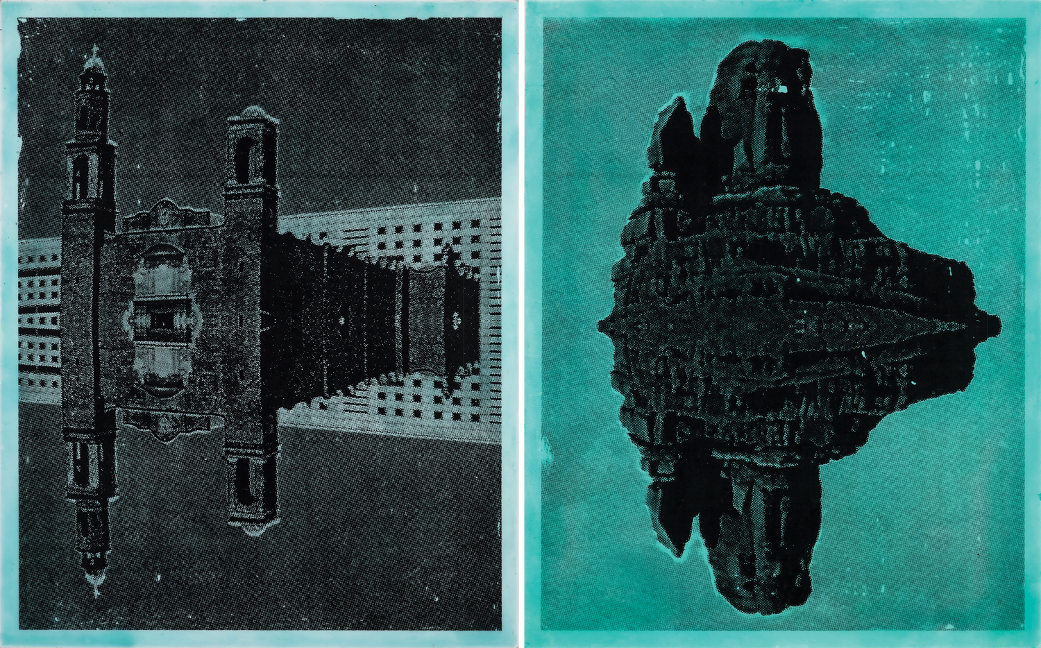 Pieces by Claudia Peña Salinas (from left, Tlatelolco and Owl, both 2018).