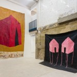 Installation view of Sophie Barber's solo
