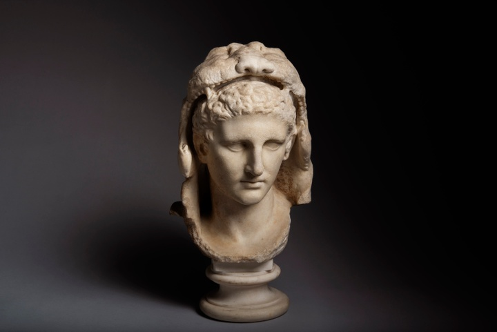 Bust of a young Hercules, Greek, late Hellenistic period, ca. 1st century B.C.E.