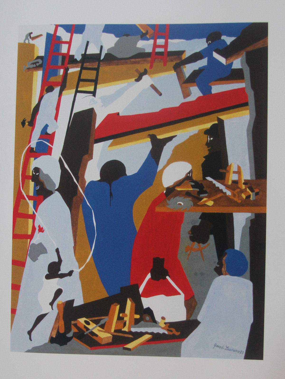 Jacob Lawrence, 'Building No. 1', 1985.