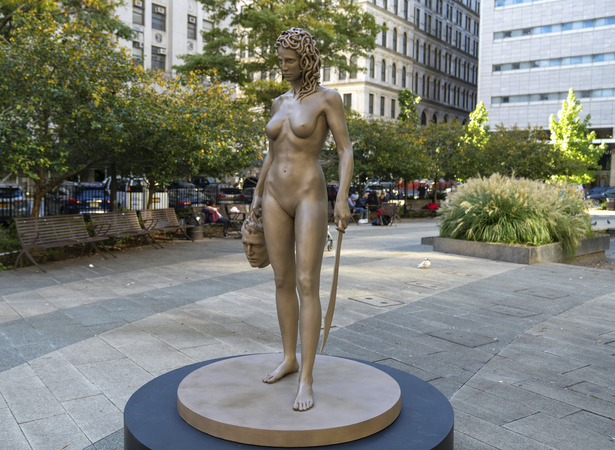 'Medusa With The Head of Perseus' by Luciano Garbati in Manhattan
