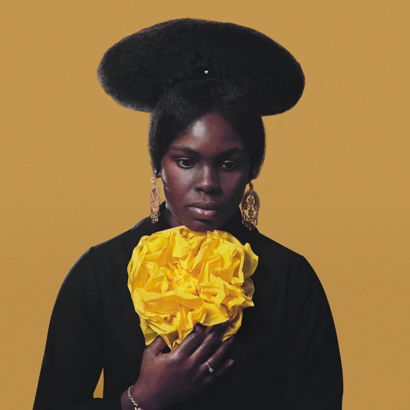Kwame Brathwaite Untitled (Clara Lewis Buggs with Yellow Flower), ca. 1962, printed 2020.