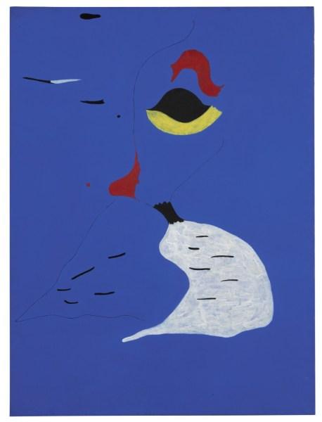 """Năm 1927 """"Peinture (Femme au Chapeau Rouge) của Joan Miro."""