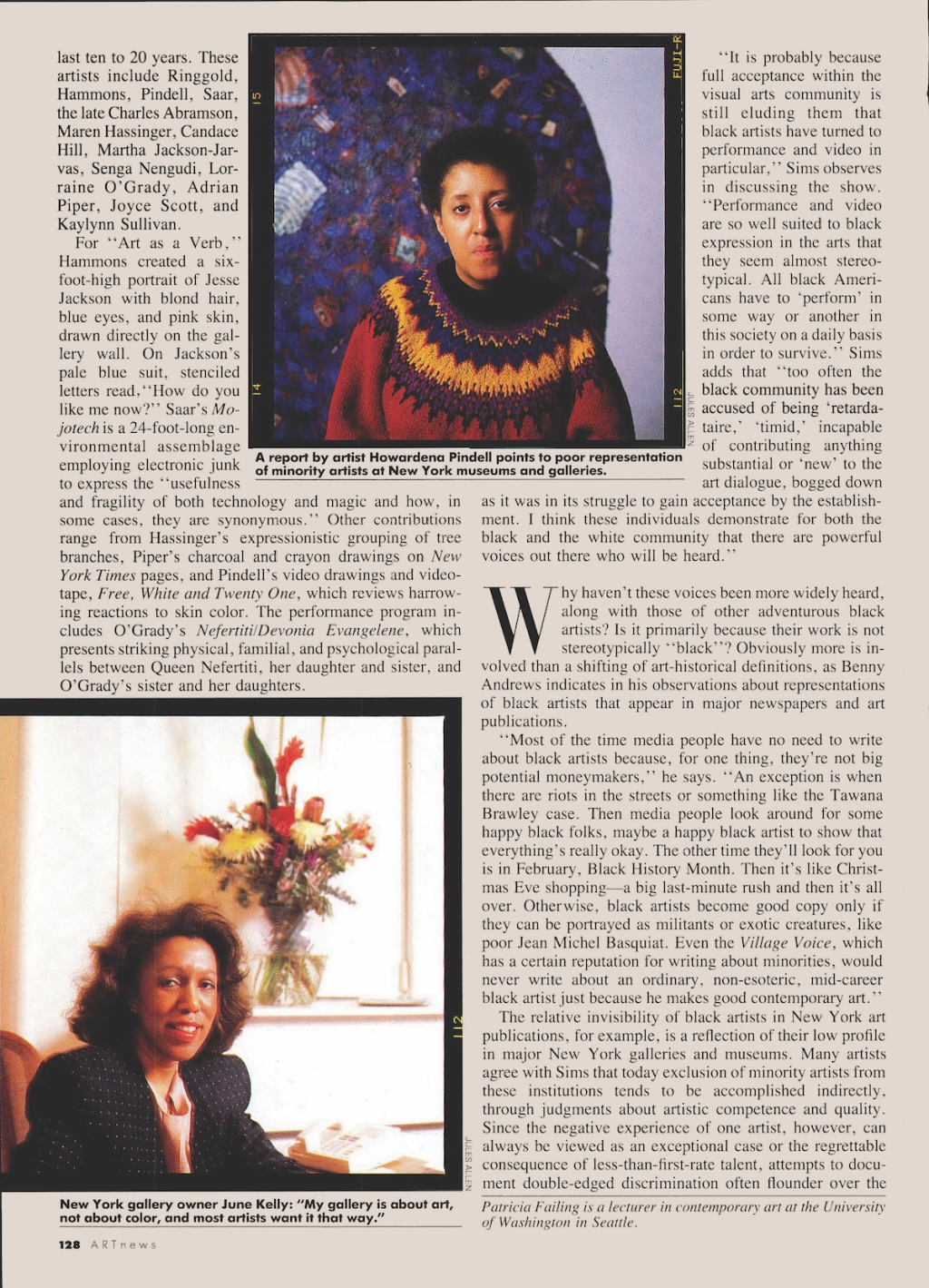 'There Has Been Change': Artist Howardena Pindell on a 1989 Article About U.S. Museums' Exclusion of Black Artists