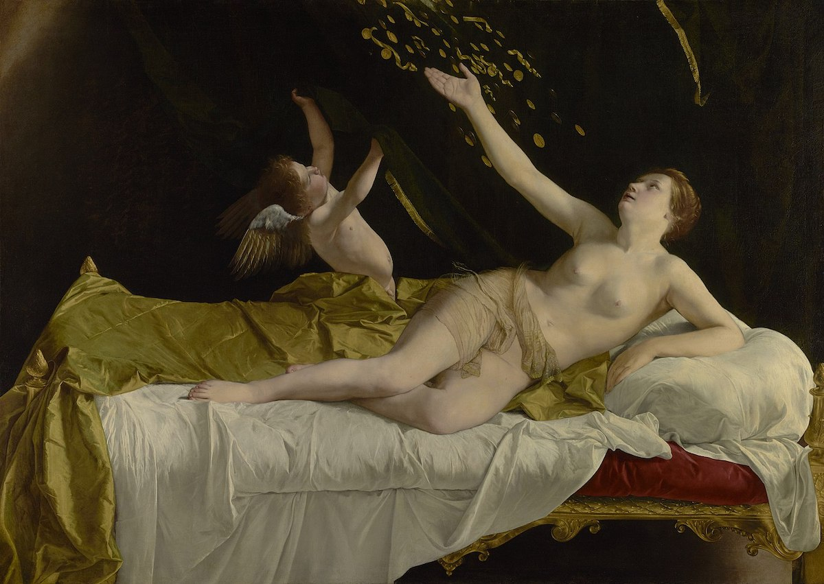 Orazio Gentileschi's 'Danaë and the Shower of Gold' (ca. 1623) was purchased by the Getty Museum for $30.5 million. Feigen had consigned it Sotheby's.