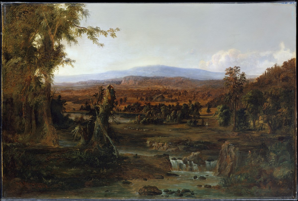 Robert S. Duncanson, 'Landscape with Shepherd', 1852.