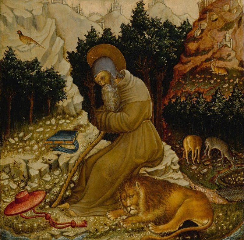Francesco de' Franceschi St. Jerome in the wilderness with a lion