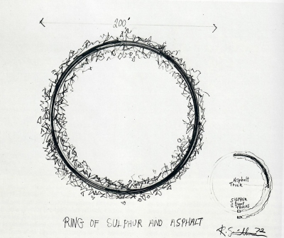 Robert Smithson: Ring of Sulphur and Asphalt, 1972.
