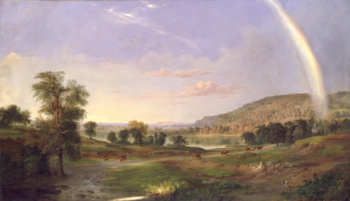 Robert S. Duncanson, 'Landscape with Rainbow', 1859.