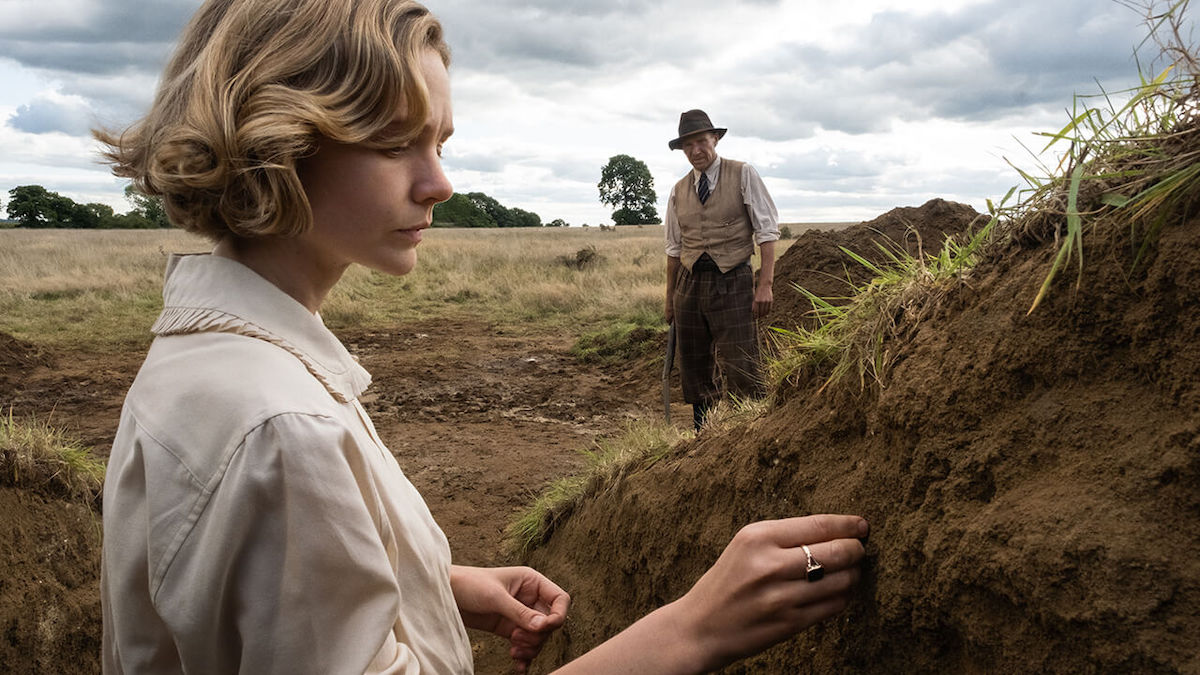 Carey Mulligan in 'The Dig,' a new Netflix film about the discovery of the Sutton Hoo burial.