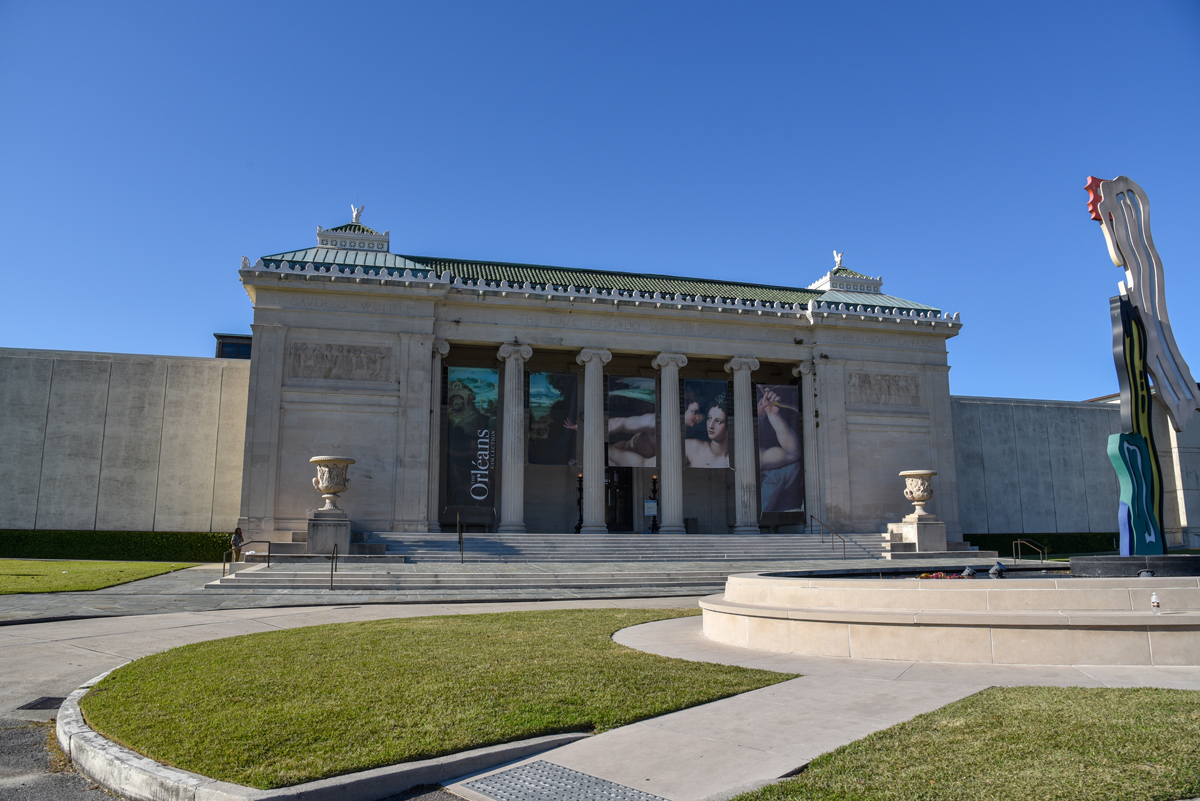 Exterior of The New Orleans Museum of Art.