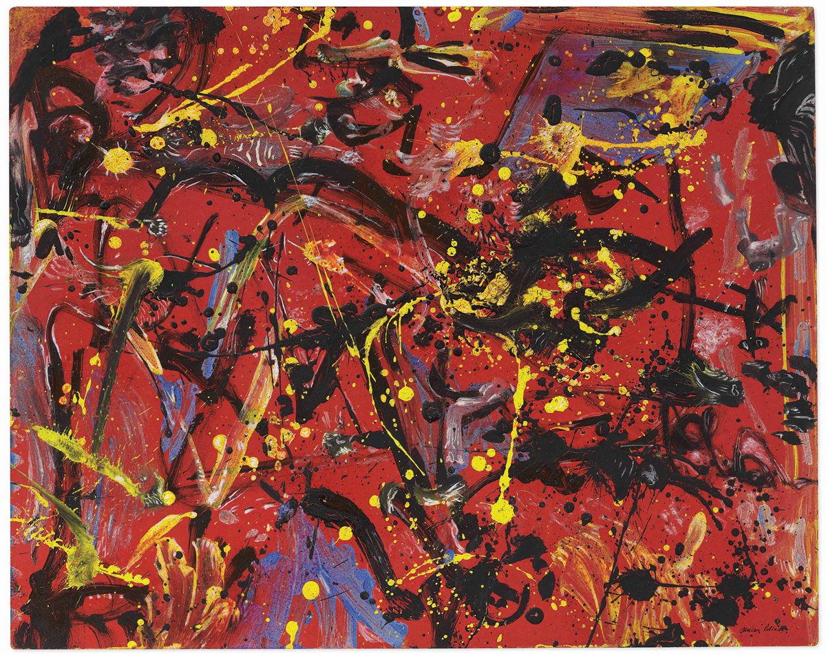 Jackson Pollock's Red Composition (1946).