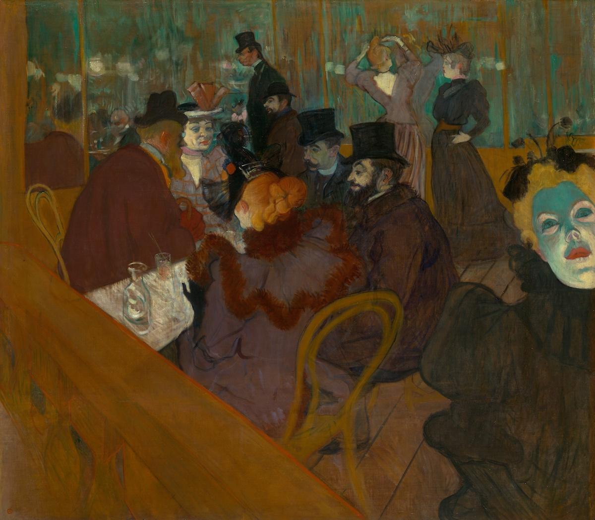 Henri de Toulouse-Lautrec, 'At the Moulin