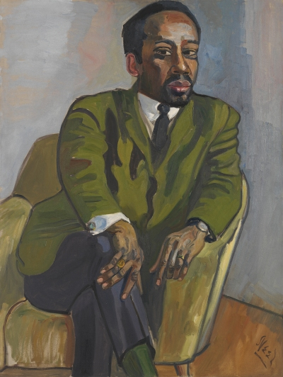 Alice Neel's 1964 portrait of actor and civil rights activist Hugh Hurd.