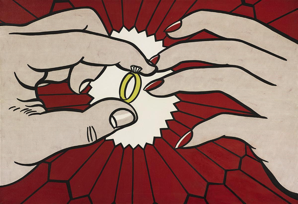 Roy Lichtenstein, The Ring (Engagement), 1962.
