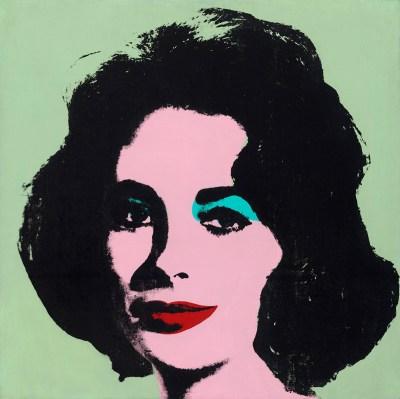 Andy Warhol, Liz #3, (Early Colored Liz), 1963.
