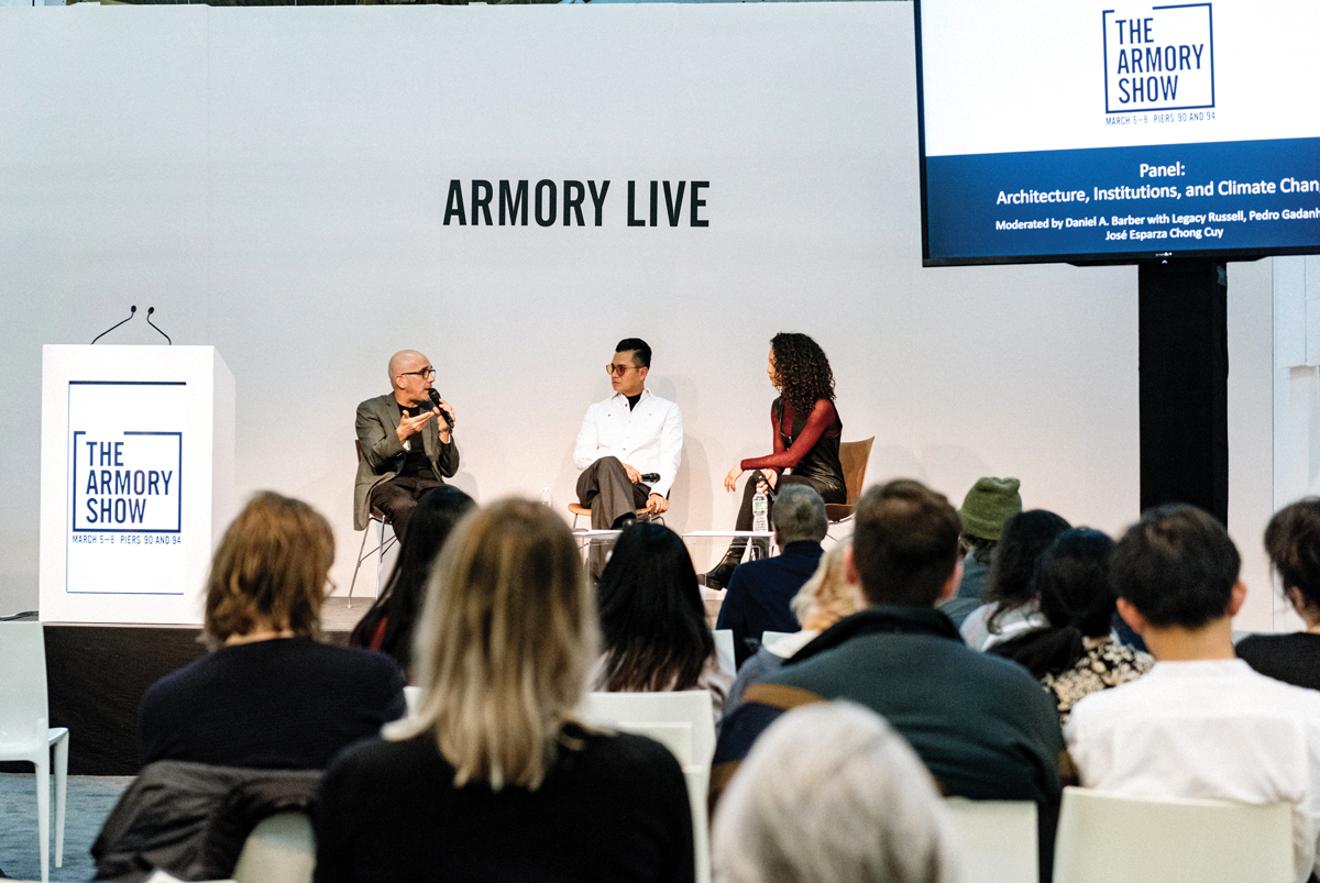 A panel discussion about climate change at the 2020 Armory Show couldn't have foreseen the tempest to come.