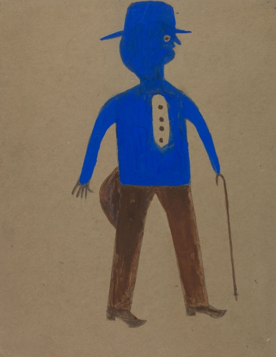 Bill Traylor, Untitled Man in Blue and Brown), n.d.