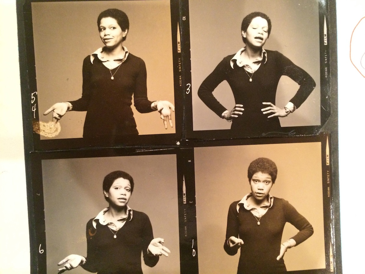 Linda Goode Bryant. A contact sheet showing a woman