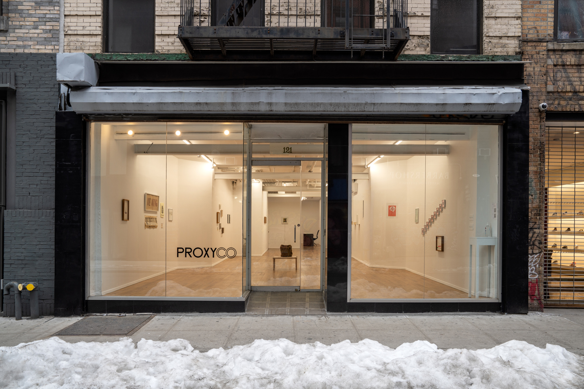 Exterior view of Proxyco gallery's new location on Orchard Street in the Lower East Side.
