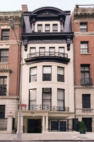 Exterior view of Petzel gallery's location on the Upper East Side.