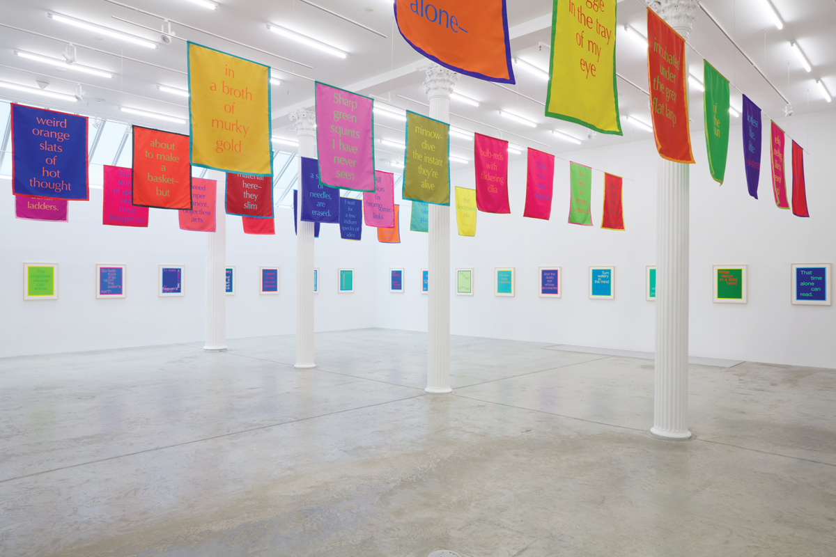 Installation view of Renée Gallery exhibition at Bortolami, New York.