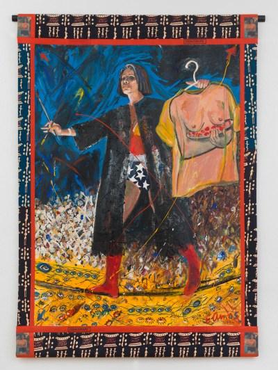 Emma Amos, Tightrope, 1994.