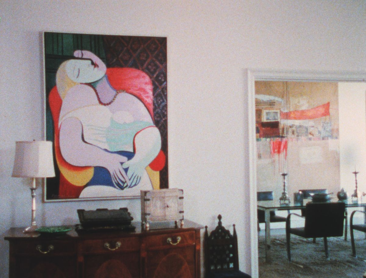 apartment photo showing Picasso's painting the Dream