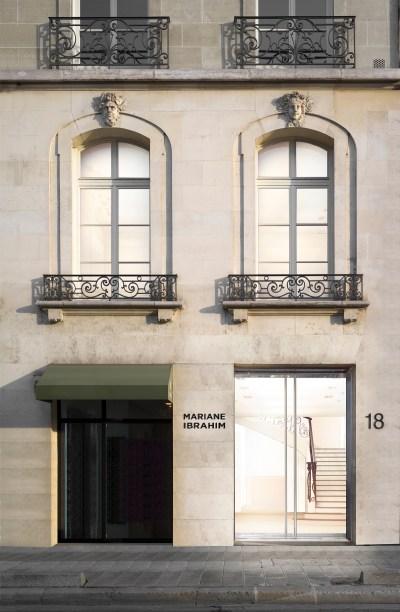 Exterior of Mariane Ibrahim's Paris gallery