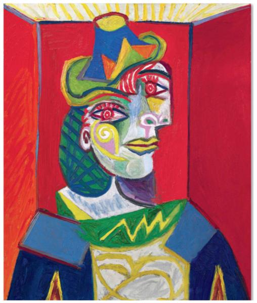 Femme Au Béret Et À La Robe Quadrillée (Marie-thérèse Walter)1937