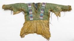 Chief Daniel Hollow Horn Bear (Mato He Oklogeca)'s leather shirt.
