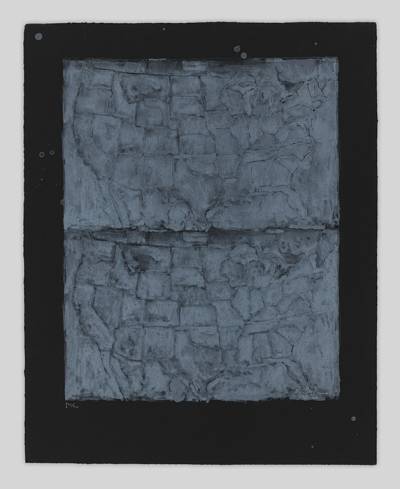 Two maps of the United States stacked on each other, rendered in a chalky white with black borders
