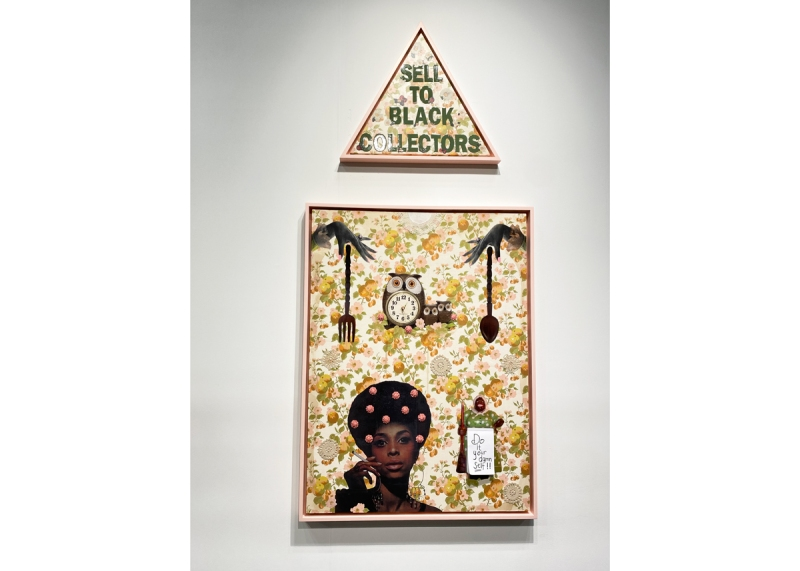 A triangle that reads 'Sell to Black Collectors' above a collage.