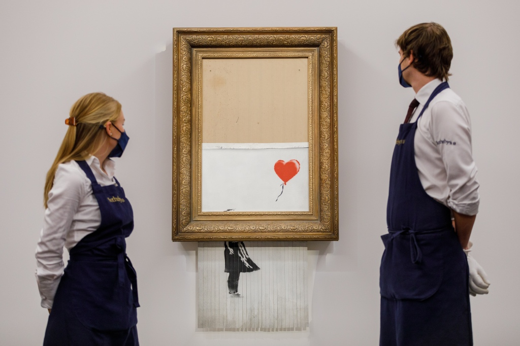 Banksy's Self-Destructing Painting Sells for Record-Breaking $25.3 M. atSotheby's